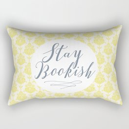 Stay Bookish vintage yellow background Rectangular Pillow