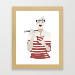 Noodles Girl Framed Art Print