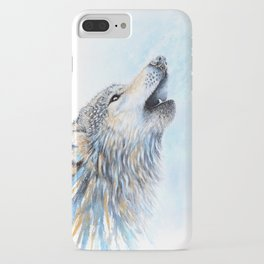 """Howling"" Watercolor Wolf iPhone Case"