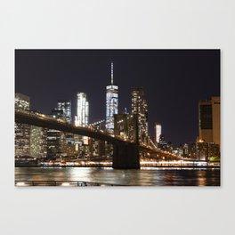 Brooklyn Bridge & WTC (Color) Canvas Print
