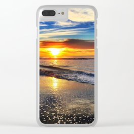 beach-sunset Clear iPhone Case