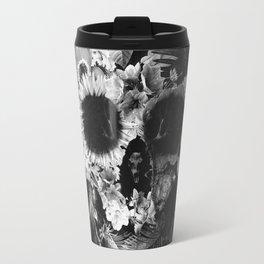 Garden Skull Dark B&W Travel Mug