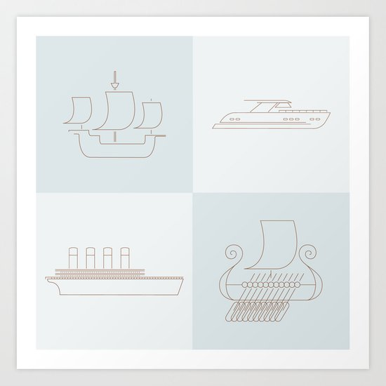Then and Now Art Print