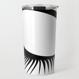 Closed Eyelashes Right Eye Travel Mug