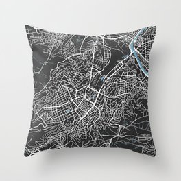 STUTTGART City Map   Germany   Black   More Colors, Review My Collections Throw Pillow