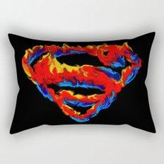 Superman in Flames Rectangular Pillow