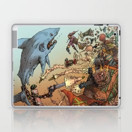 LOVE ME LIKE A PSYCHO ROBOT - USING A HUGE SHARK Laptop & iPad Skin