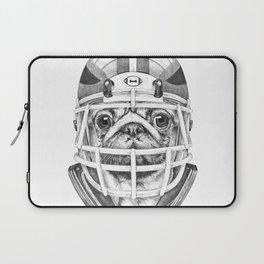 American Pug Football Laptop Sleeve