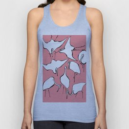 "Hokusai (1760-1849) ""Cranes from Quick Lessons in Simplified Drawing""(edited) Unisex Tank Top"