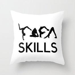 yoga skills Throw Pillow