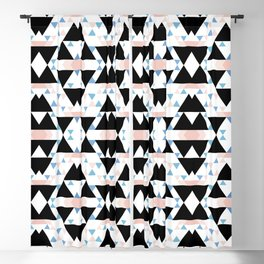 multicolor southwest geo pattern Blackout Curtain
