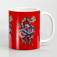 dragon Mugs featuring Dragon by Spooky Dooky