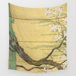 Cherry, Maple and Budding Willow Tree Wall Tapestry