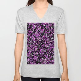 Pink, White and Black bubble texture Unisex V-Neck