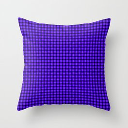 The Blue and Purple Weave Throw Pillow