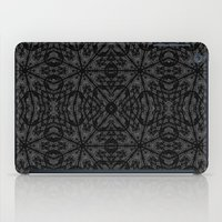 gray pattern iPad Cases featuring Slate Gray Black Pattern by 2sweet4words Designs