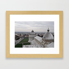 View From The Leaning Tower Framed Art Print