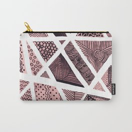Geometric doodle pattern - pink and black Carry-All Pouch