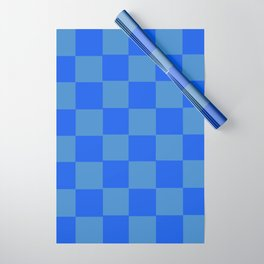 Blue Chex 2 Wrapping Paper