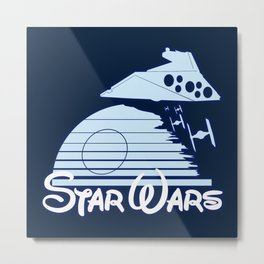 Welcome to the new family friendly Star Wars Empire! Metal Print