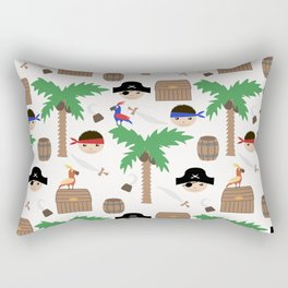 Seamless pirate colorful kids retro background pattern Rectangular Pillow