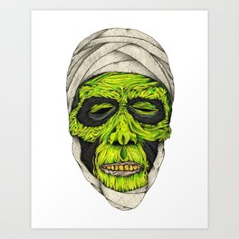 Mummy Head Art Print