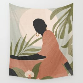 Tropical Girl 21 Wall Tapestry