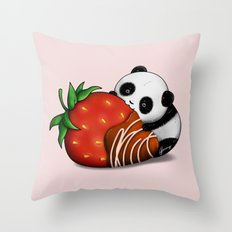 Pandaberry Throw Pillow