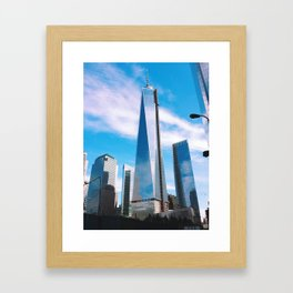 FREEDOM COMES IN BLUE Framed Art Print