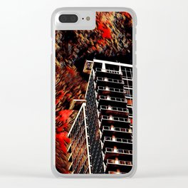 Doomsday Clouds Clear iPhone Case