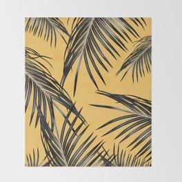 Black Palm Leaves Dream #6 #tropical #decor #art #society6 Throw Blanket