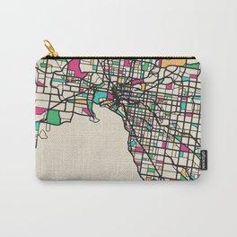 Colorful City Maps: Melbourne, Australia Carry-All Pouch