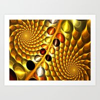 fractal Art Prints featuring Fractal by Digital-Art