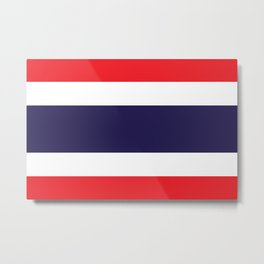 The National flag of Thailand, (formerly known as Siam) Authentic scale and color version  Metal Print