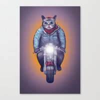 lil bub Canvas Prints featuring Caferacer Lil Bub by Bacht