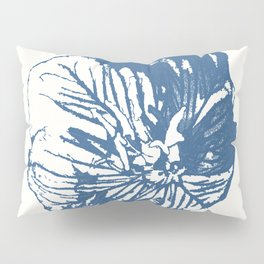 Mexican Primrose Minimal-Nature Blue Pillow Sham