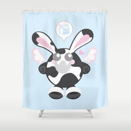 Bunbun Cow Shower Curtain