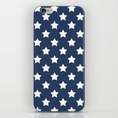 White stars on a blue background iPhone Skin