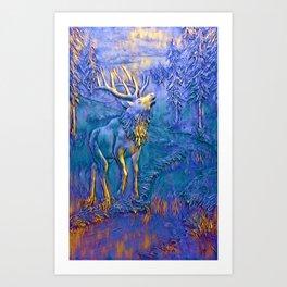 Elk Mountain Sculpture Artwork Art Print