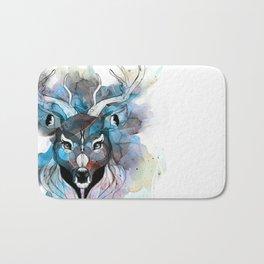 Deer- Blue Bath Mat