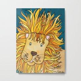 Zulu - A Not Very Ferocious Lion Metal Print