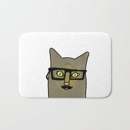 Professor Mustache Cat Bath Mat