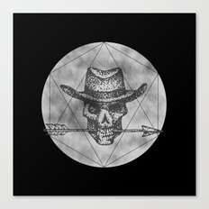 Dead Sheriff on dark Canvas Print