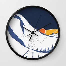 Mountain mysteries Wall Clock