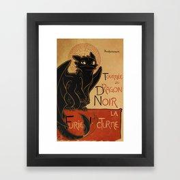 Le Dragon Noir Framed Art Print
