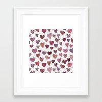 artsy Framed Art Prints featuring Artsy Hearts by Shifra Whiteman