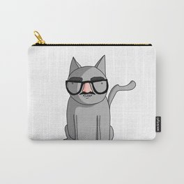 Cat with Groucho Glasses Carry-All Pouch