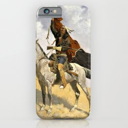 Frederic Remington - The Blanket Signal - Digital Remastered Edition iPhone Case