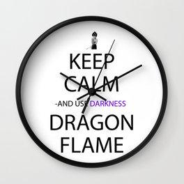 Anime Keep Calm Inspired Shirt Wall Clock