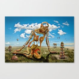 At the Sand Dunes Canvas Print
